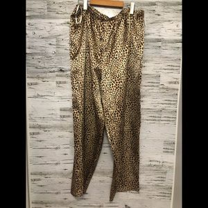 Satin leopard 🐆 pyjama pants by Private Luxuries